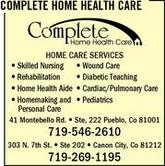 Complete Home Health Care Corporate Office Headquarters